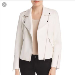 Bagatelle White Moto Faux Leather Jacket